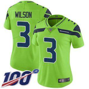 Women Seahawks Russell Wilson 100th Season Jerseys
